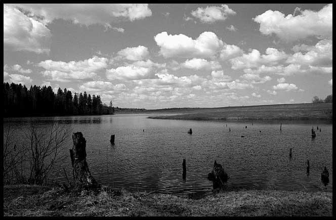 Первомай на озере (Ч/Б)