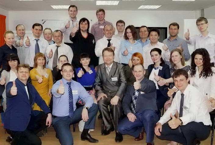 Победители с Дмитрием Устиновым (апрель 2014)