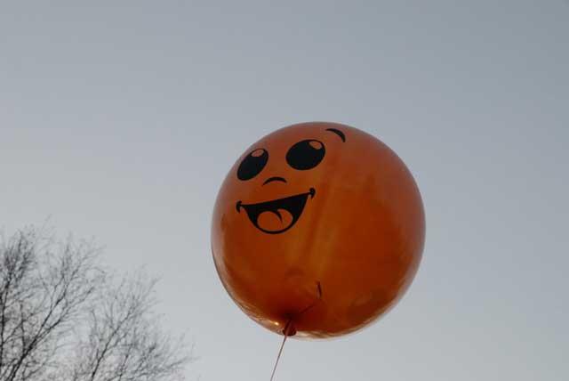 Оранжевый, воздушный, радостный