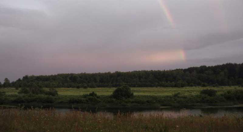 Увидеть радугу - к счастью.
