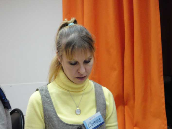 Светлана рассказывает о планах.