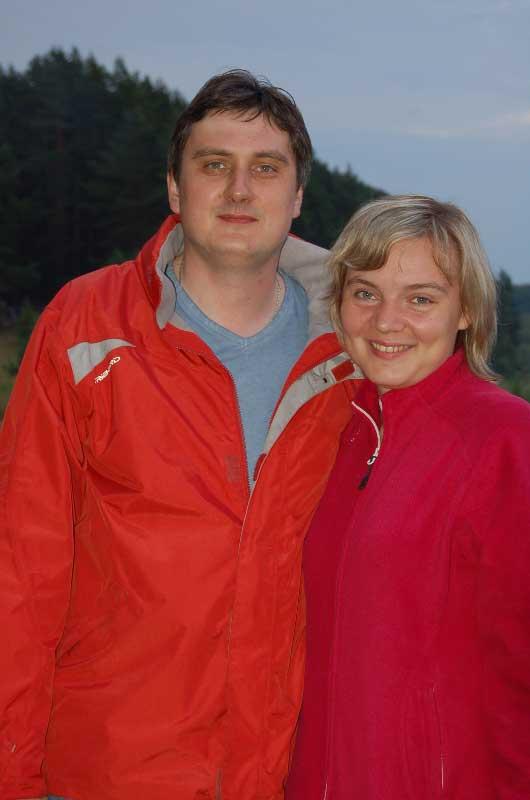 Владимир Виноградов и его помощница Ольга.