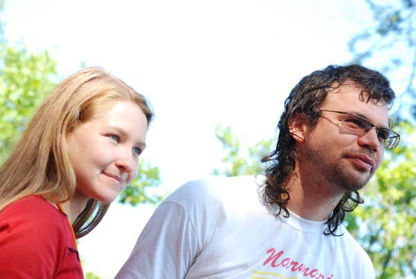 Красавица-блондинка и Виталий