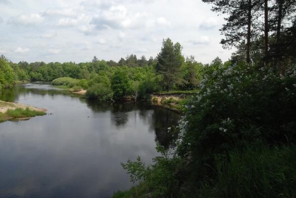 Река Пра - тихая и извилистая