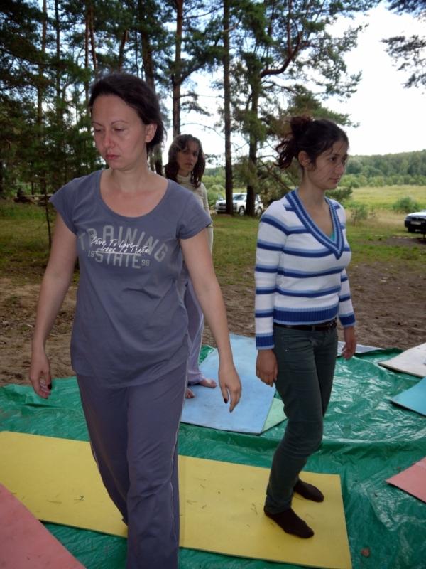 Марианна Збронская в процессе тренинга.
