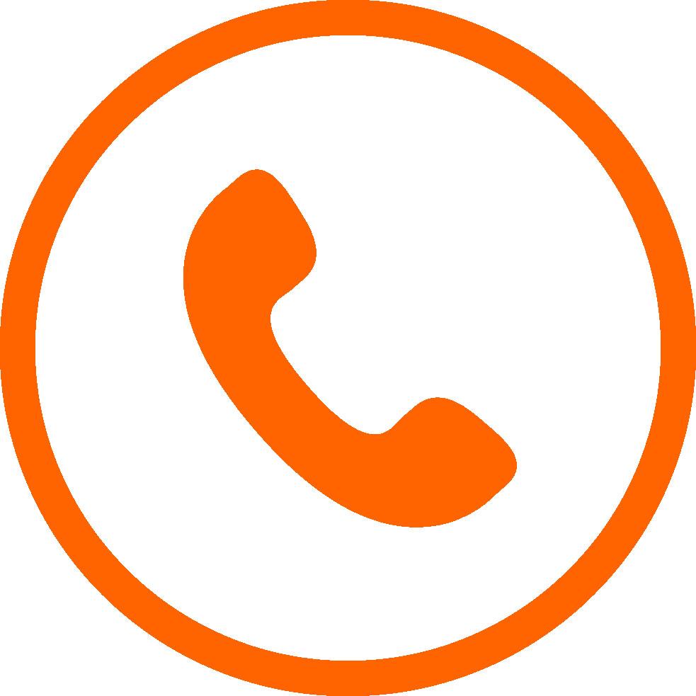 Тел иконка оранж